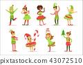 santa children costume 43072510