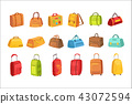 Suitcases And Other Luggage Bags Set Of Icons 43072594