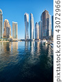Dubai marina skyline in United Arab Emirates 43072966
