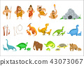 Stone Age Tribe People And Related Objects 43073067