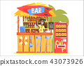 Beach Bar In Tropical Style Design With Smiling Resta Barman 43073926