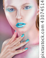 Turquoise makeup 43074514