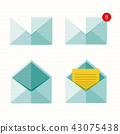 Flat envelope. Emailing and global communication.  43075438