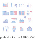 Home Improvement silhouettes icon set 43075552