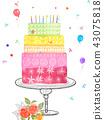 生日蛋糕 43075818