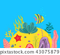 underwater sea vector 43075879