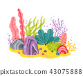 underwater sea vector 43075888