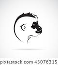 gibbon, black, icon 43076315