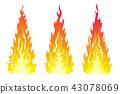 fire flame vector 43078069