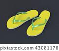 Flip flops on the street 43081178