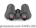 Binoculars on white background 43081180