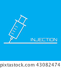 Injection medical background 43082474