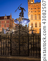Neptune Fountain at Night in City of Gdansk 43082507