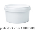 White round plastic container 43083909