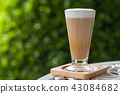 a glass of hot Latte coffee 43084682
