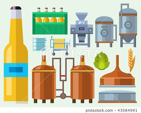 Beer brewing process alcohol factory production equipment