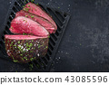 Barbecue wagyu point steak sliced  43085596