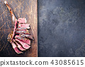 Barbecue dry aged Wagyu Tomahawk Steak  43085615
