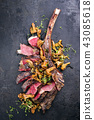 Barbecue dry aged wagyu tomahawk steak 43085618