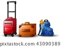 Set of icons travel bags 43090389