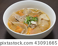 Miso soup with pork and vegetables 43091665