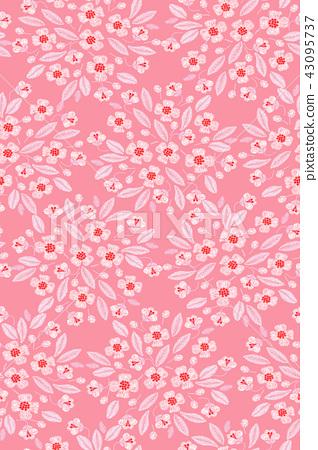 無縫菊花花卉圖案 43095737