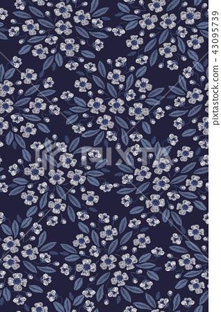 無縫菊花花卉圖案 43095739