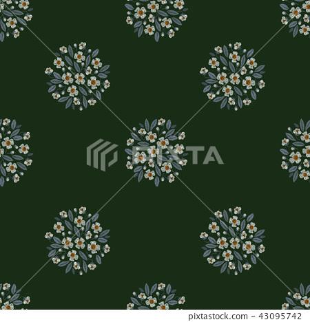 無縫菊花花卉圖案 43095742