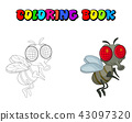 fly cartoon character vector design isolated  43097320