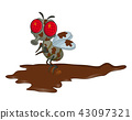 dirty fly cartoon character vector design isolated 43097321