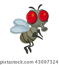 fly cartoon character vector design isolated 43097324