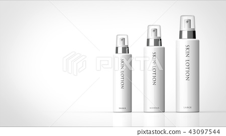 Toner lotion 3 size Logo available Left copy space 43097544