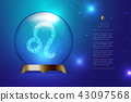Leo Zodiac sign in Magic glass ball, Fortune 43097568