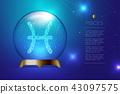 Pisces Zodiac sign in Magic glass ball, Fortune 43097575