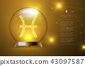 Pisces Zodiac sign in Magic glass ball, Fortune 43097587