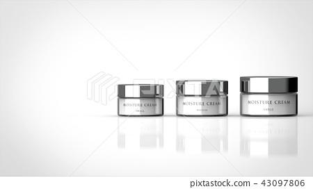 기초 화장품 크림 대중소 로고가 왼쪽 복사 공간 43097806