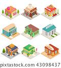 isometric icon set 43098437