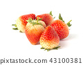 Red ripe strawberries isolated on white background 43100381