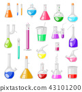 Test-tube flask vector chemical glass test tubes filled with liquid for scientific research or 43101200