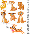 Cartoon dogs collection set 43101231