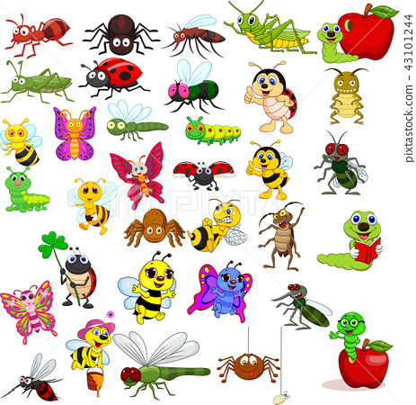 Cartoon insects collection set 43101244