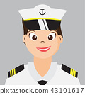 Woman Naval With Navy uniform 43101617