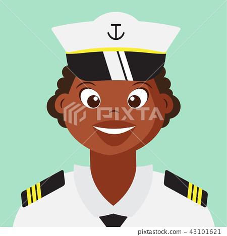 Woman Naval With Navy uniform Cartoon character 43101621