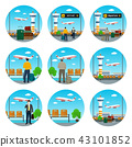 Set of Airport Icons 43101852