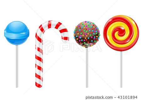 Lollipops. Set of different candies 43101894