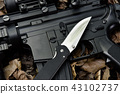 Guns and pocket army knife, Weapons and military. 43102737