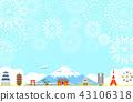 일본의 풍경 불꽃 놀이 43106318