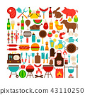 barbecue, object, set 43110250