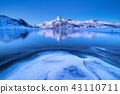 mountain, lake, snow 43110711