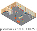Fitness Hall Isometric Composition 43110753